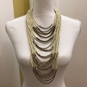 H&M long beaded necklace.